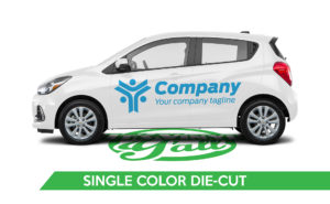 Car Vehicle Wrap - Spark Single Color Die-Cut