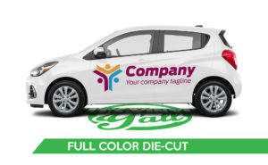 Car Vehicle Wrap - Spark Full Color Die-Cut