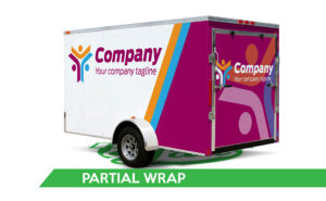 Trailer Vinyl Wrap - Partial Wrap