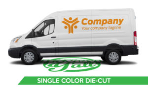 Van Vehicle Wrap - Transit Single Color Die-Cut