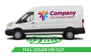 Van Vehicle Wrap - Transit Full Color Die-Cut