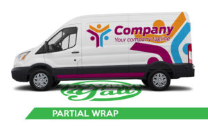 Van Vehicle Wrap - Transit Partial Wrap