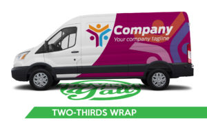 Van Vehicle Wrap - Transit Two-Thirds Wrap