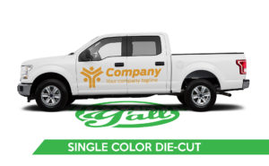 Truck Vehicle Wrap -F150 Single Color Die-Cut