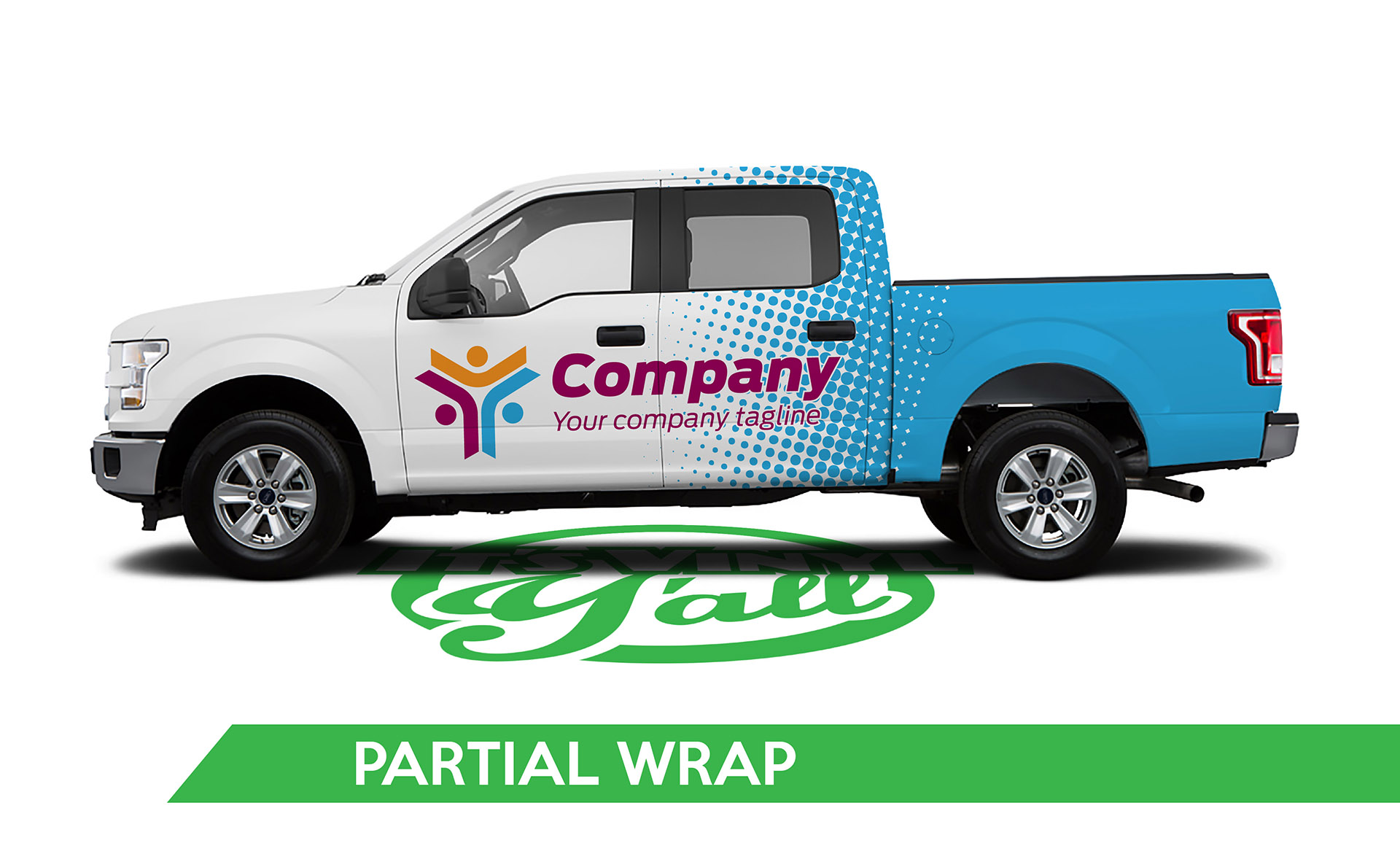 Truck Vehicle Wrap -F150 Partial Wrap
